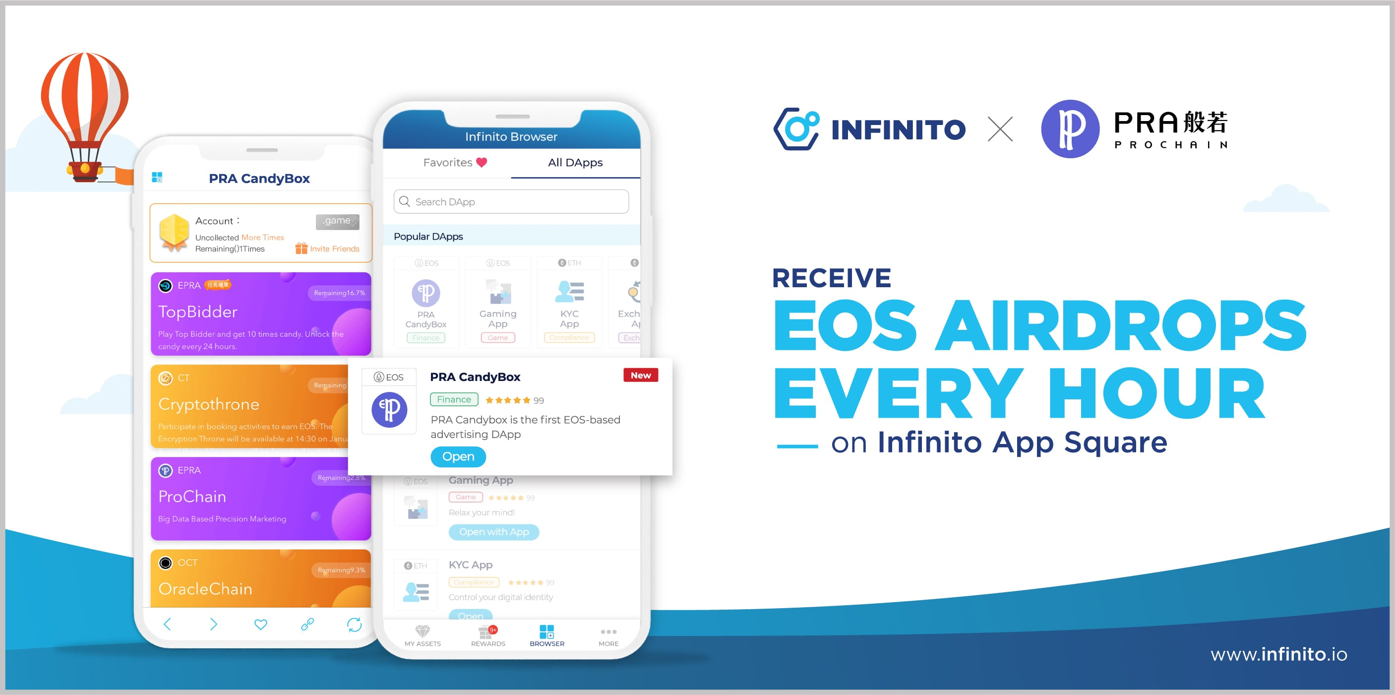 Get EOS Airdrop Token Every Hour Is Now Possible on Infinito